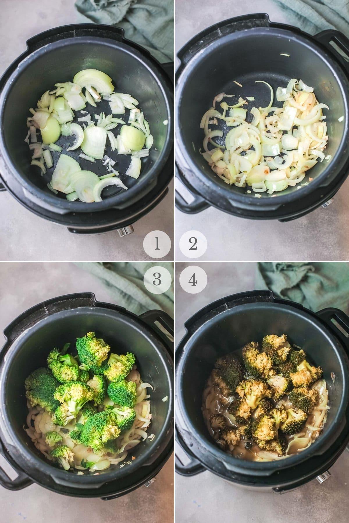 broccoli cheese soup recipe steps 1-4