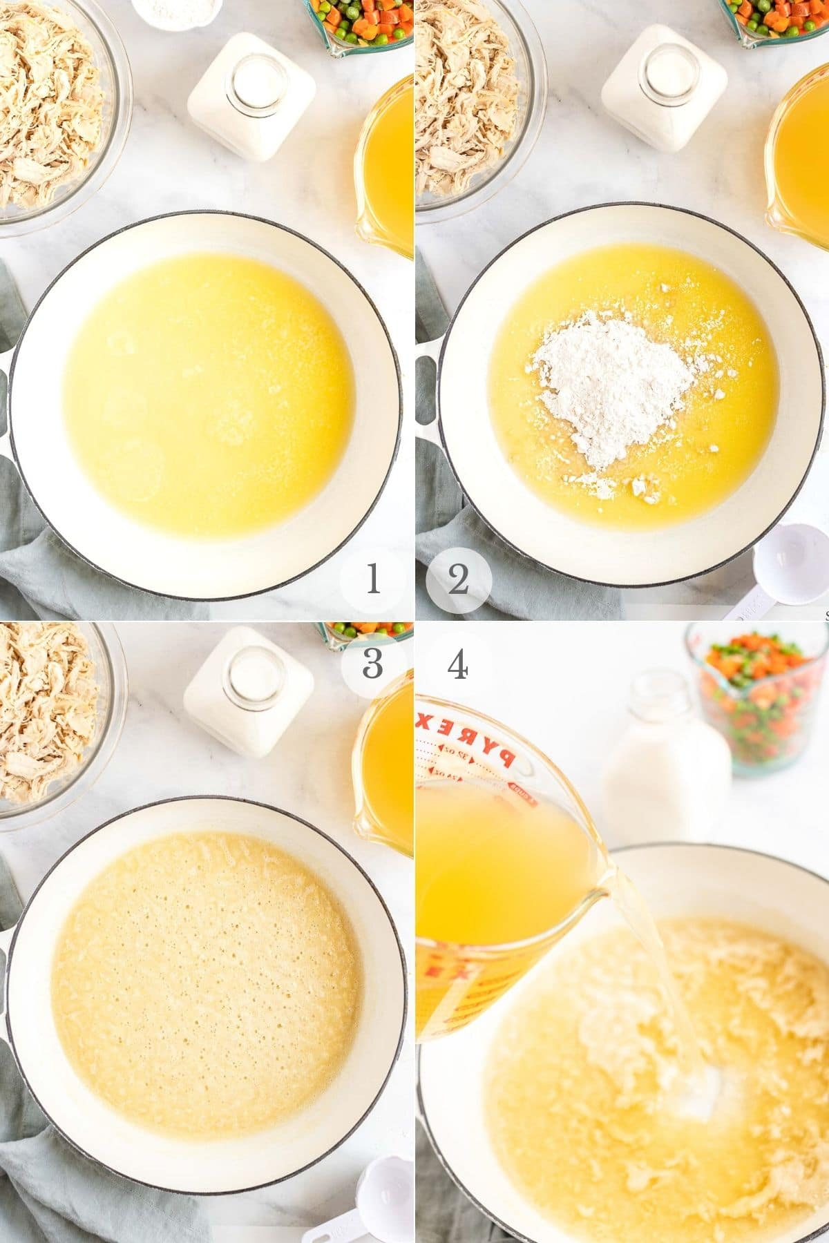chicken and biscuits recipe steps 1-4