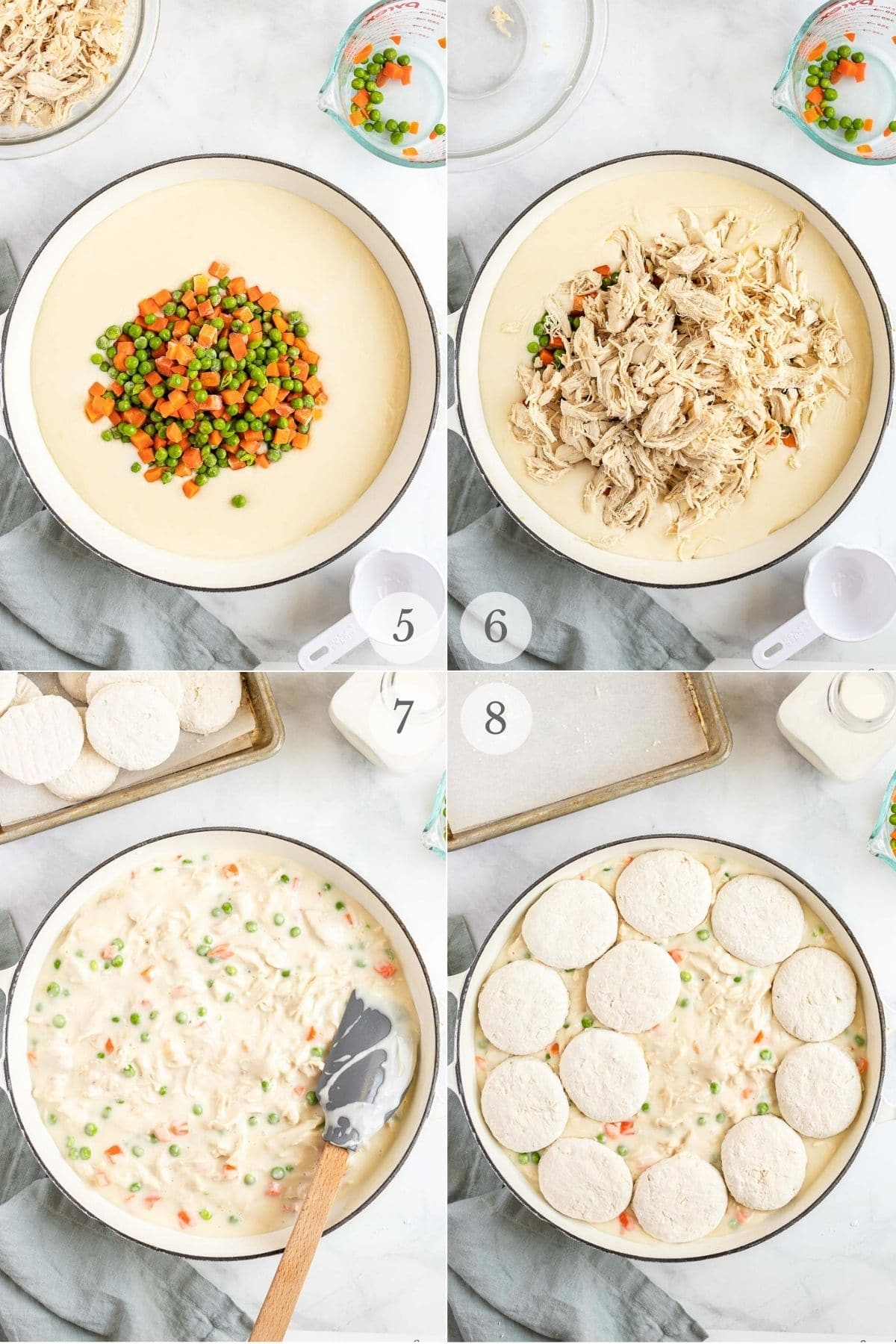 chicken and biscuits recipe steps 5-8