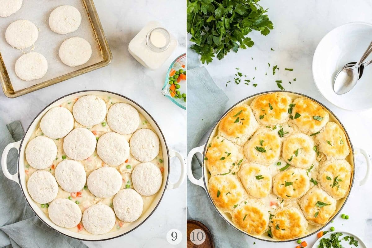 chicken and biscuits recipe steps 9-10