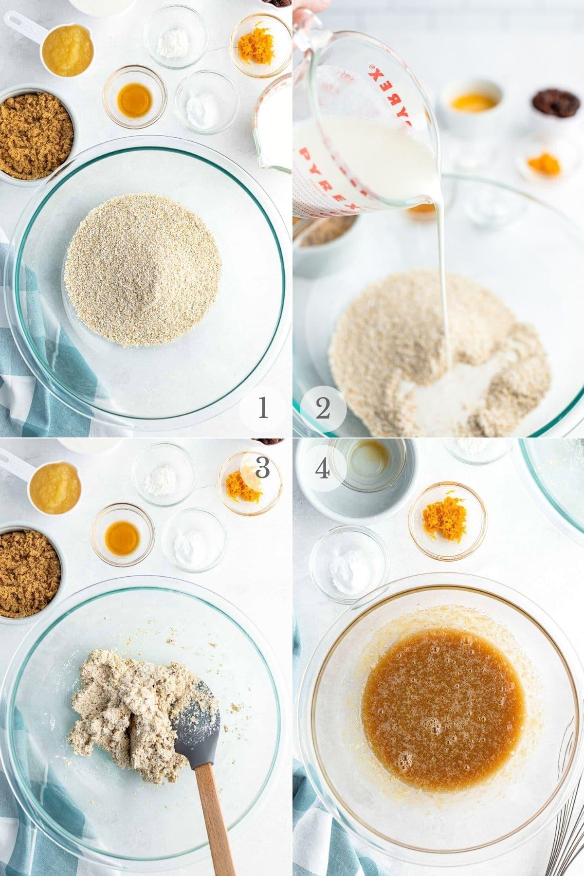 oat bran muffins recipe steps 1-4