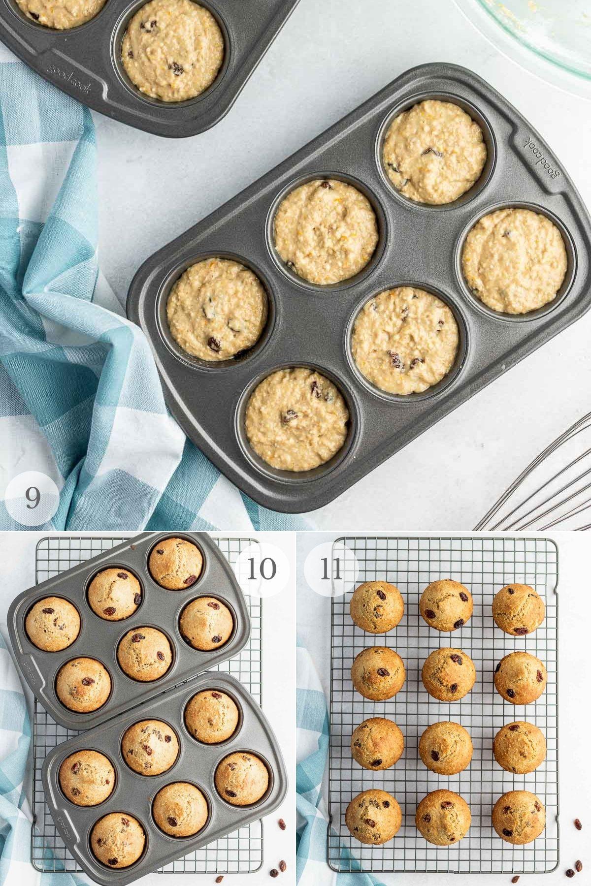 oat bran muffins recipe steps 9-11