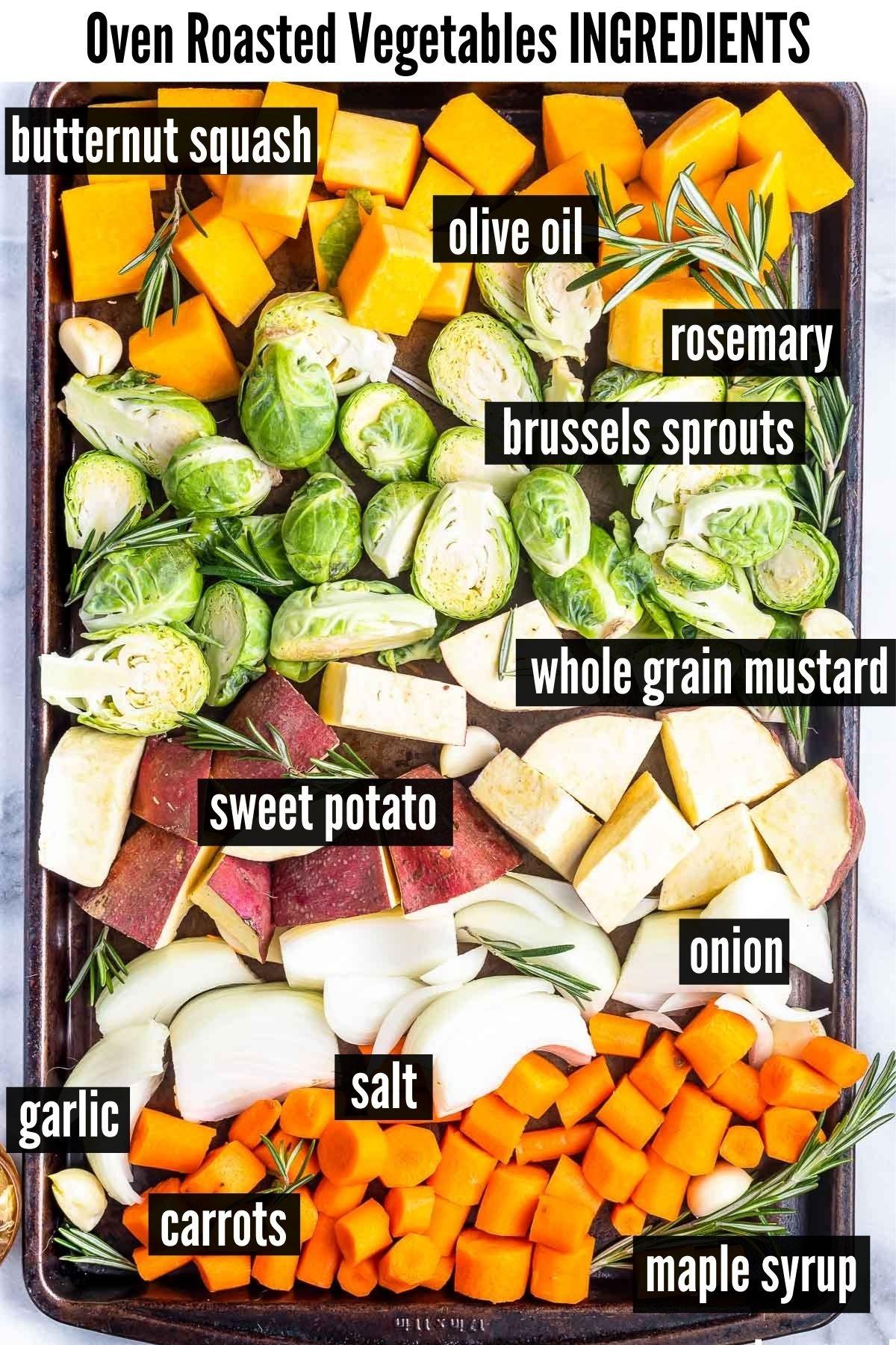 oven roasted vegetables ingredients