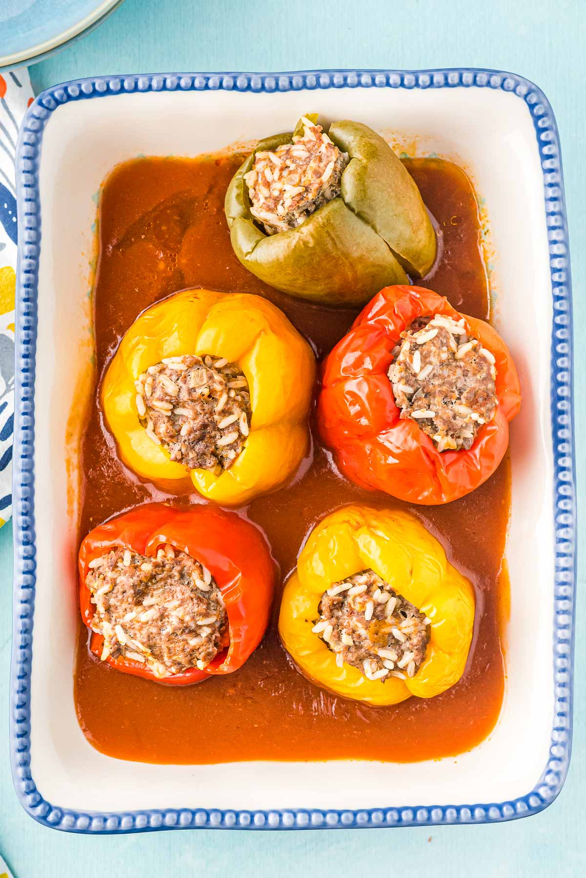 platter of Instant Pot cooked peppers