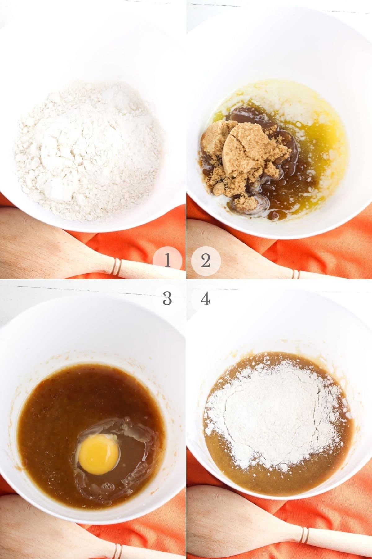 pumpkin blondies recipes steps 1-4