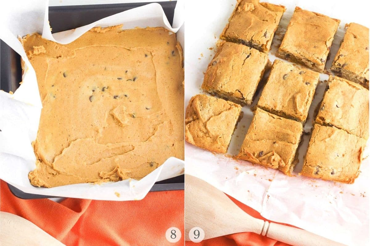 pumpkin blondies recipes steps 8-9