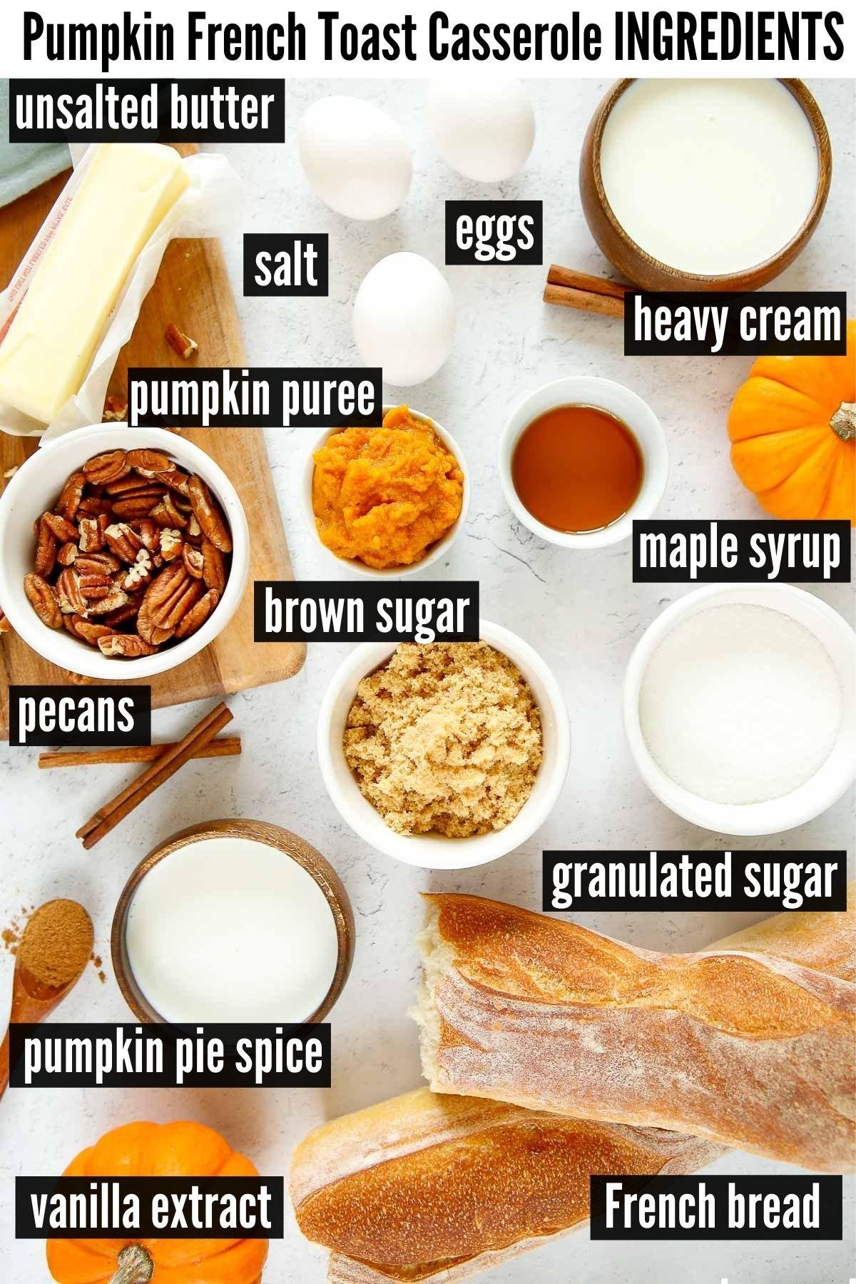 pumpkin french toast casserole ingredients
