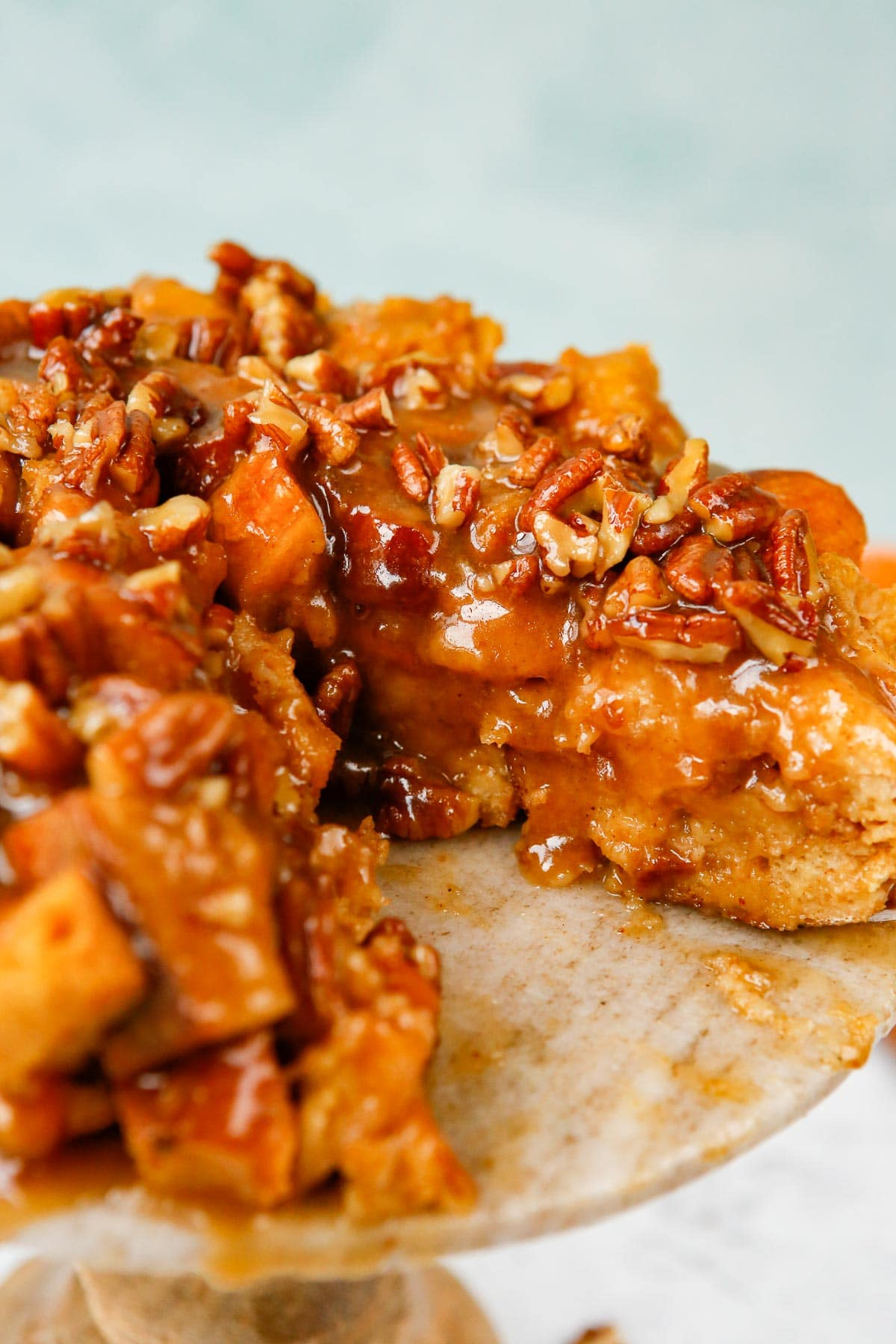 pumpkin french toast with sauce