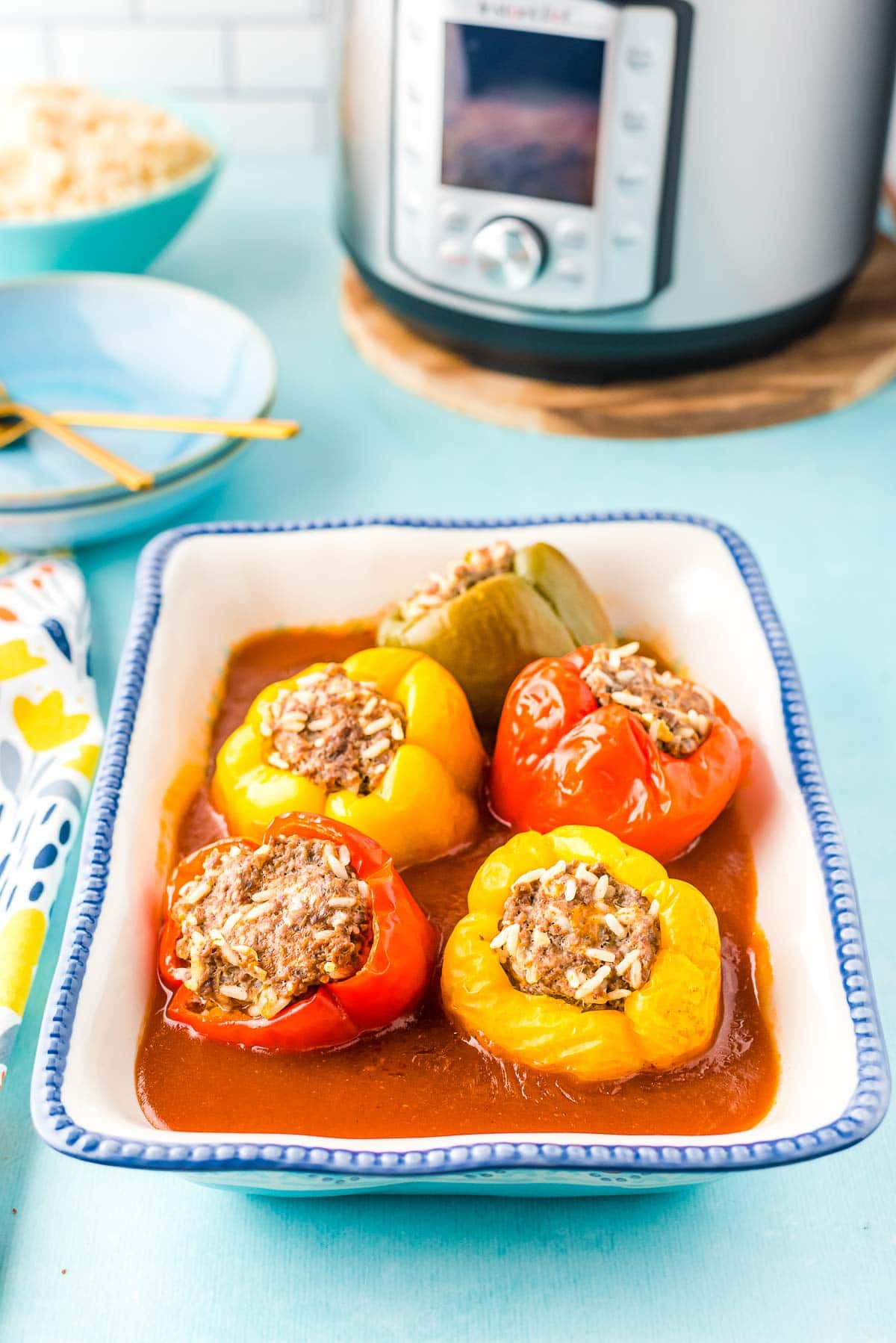 stuffed peppers from Instant Pot