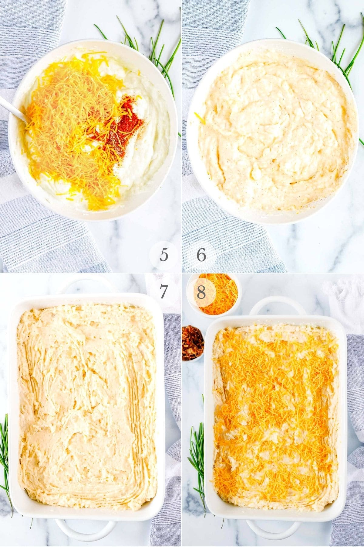 twice baked potato casserole recipe steps 5-8