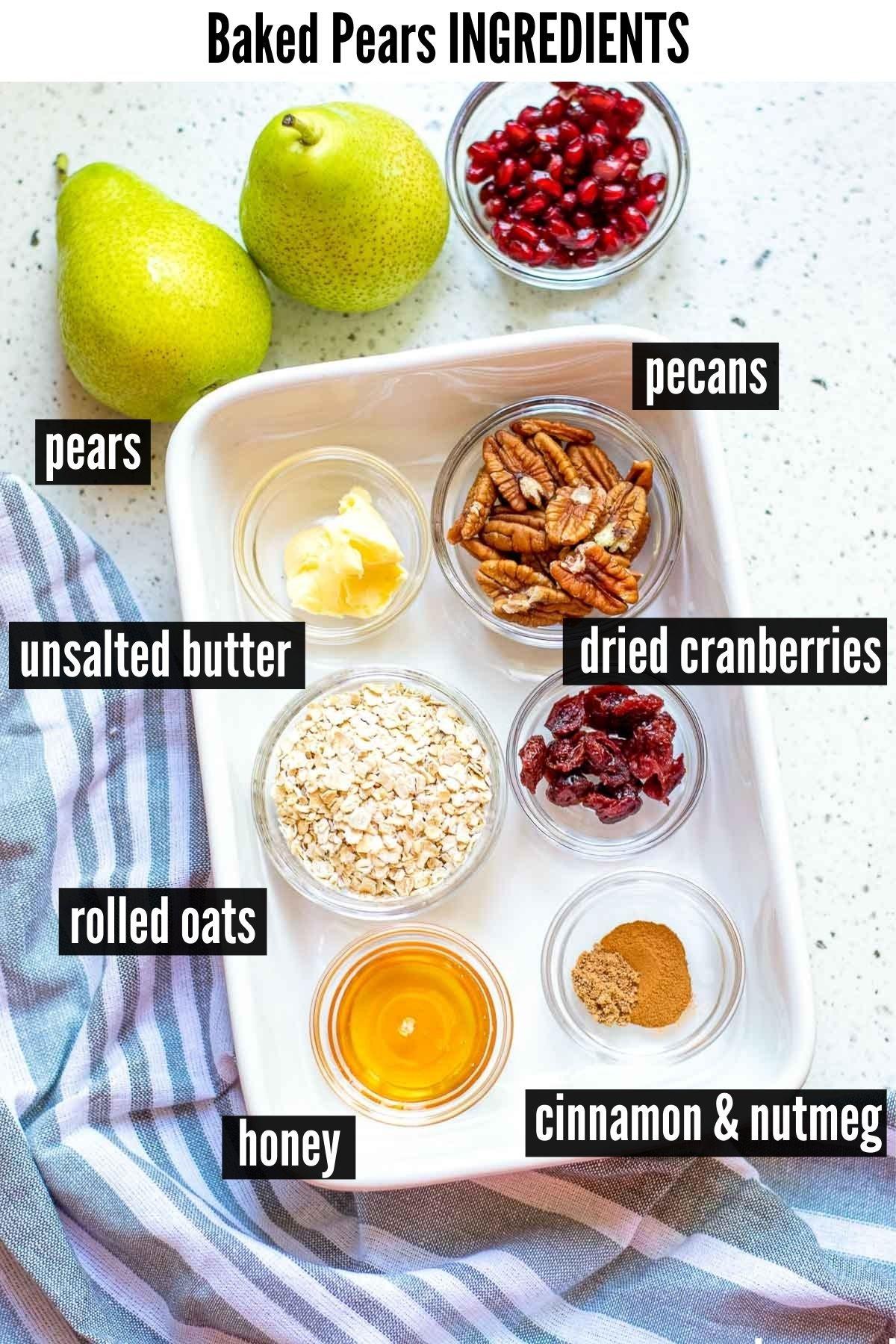 baked pears ingredients