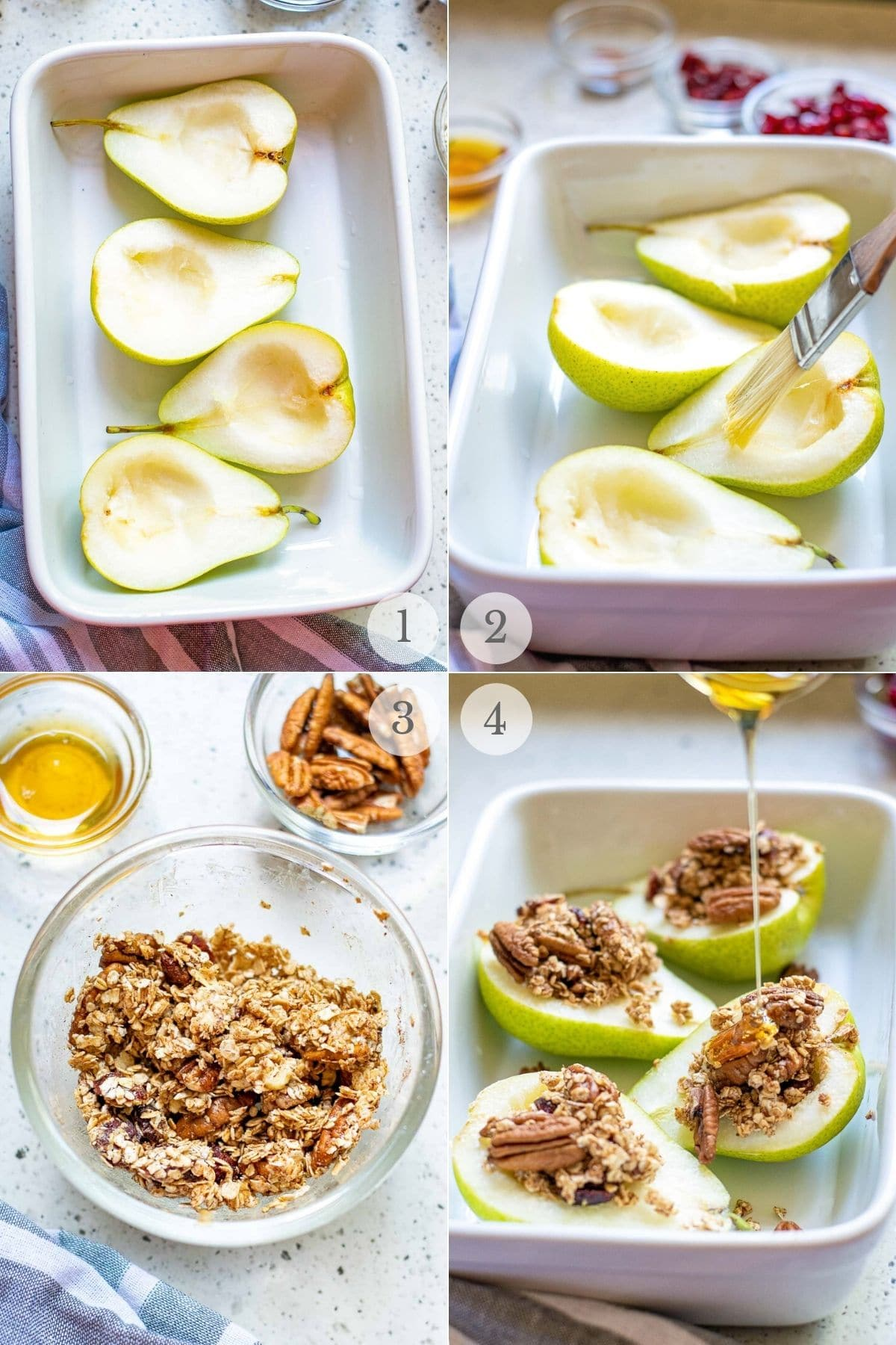 baked pears recipes 1-4 steps