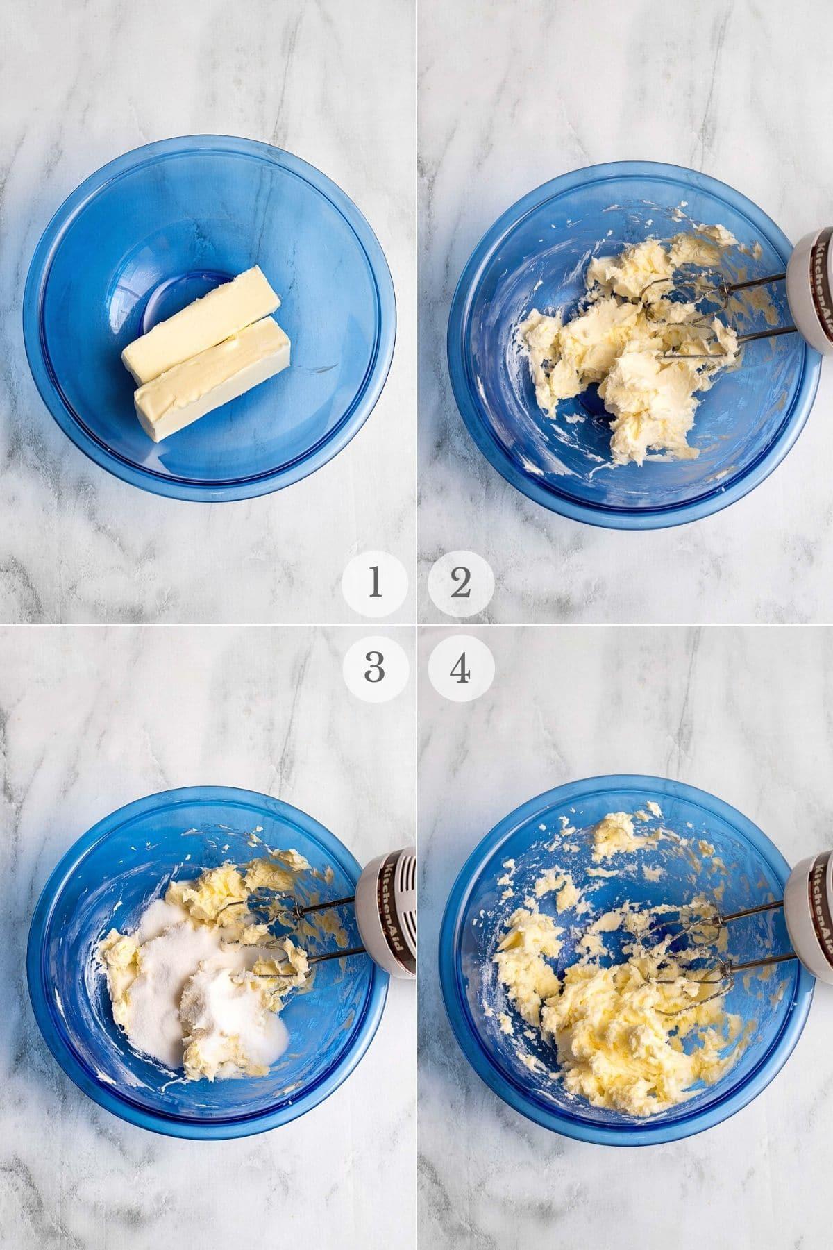 butter cookies recipe steps 1-4