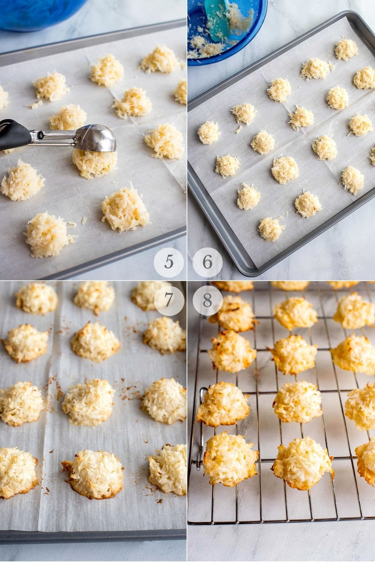 coconut macaroons recipe steps 5-8