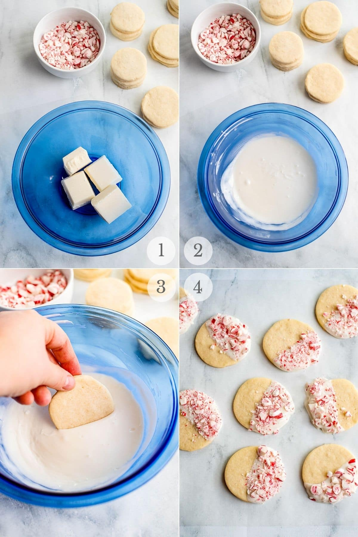 decorating butter cookies recipe steps 1-4