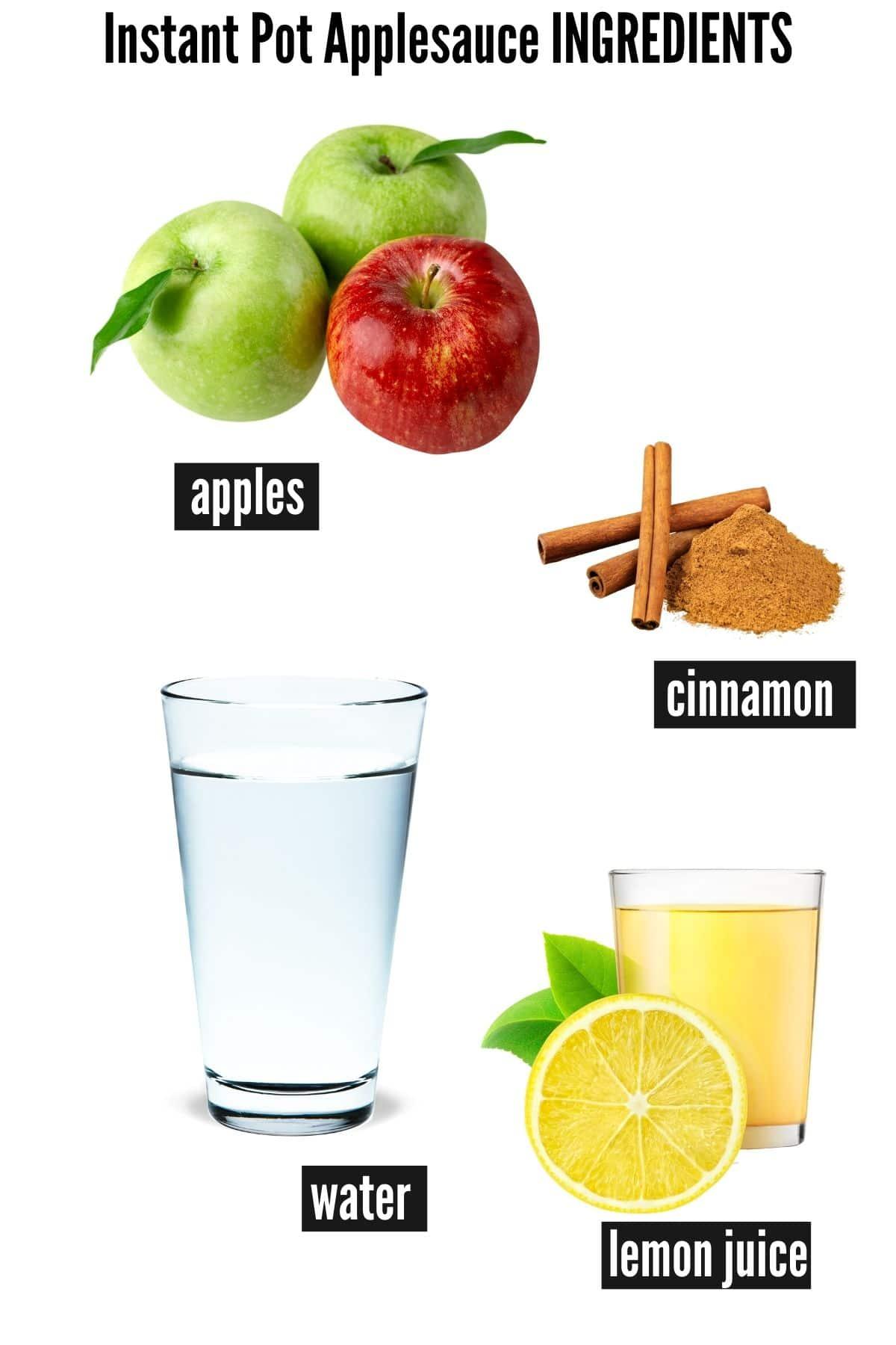 instant pot applesauce ingredients