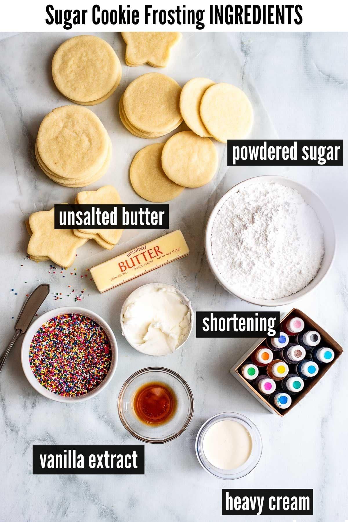 sugar cookie frosting ingredients