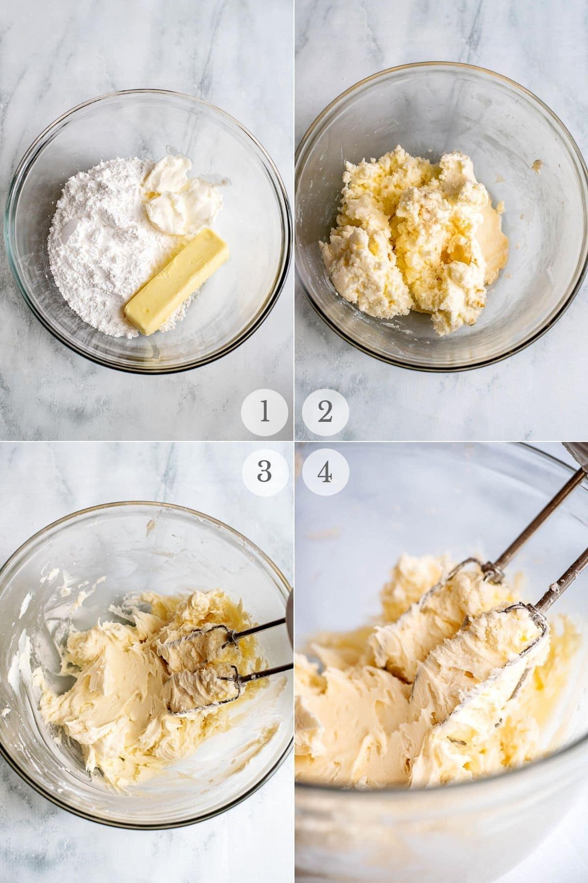 sugar cookie frosting recipe steps 1-4
