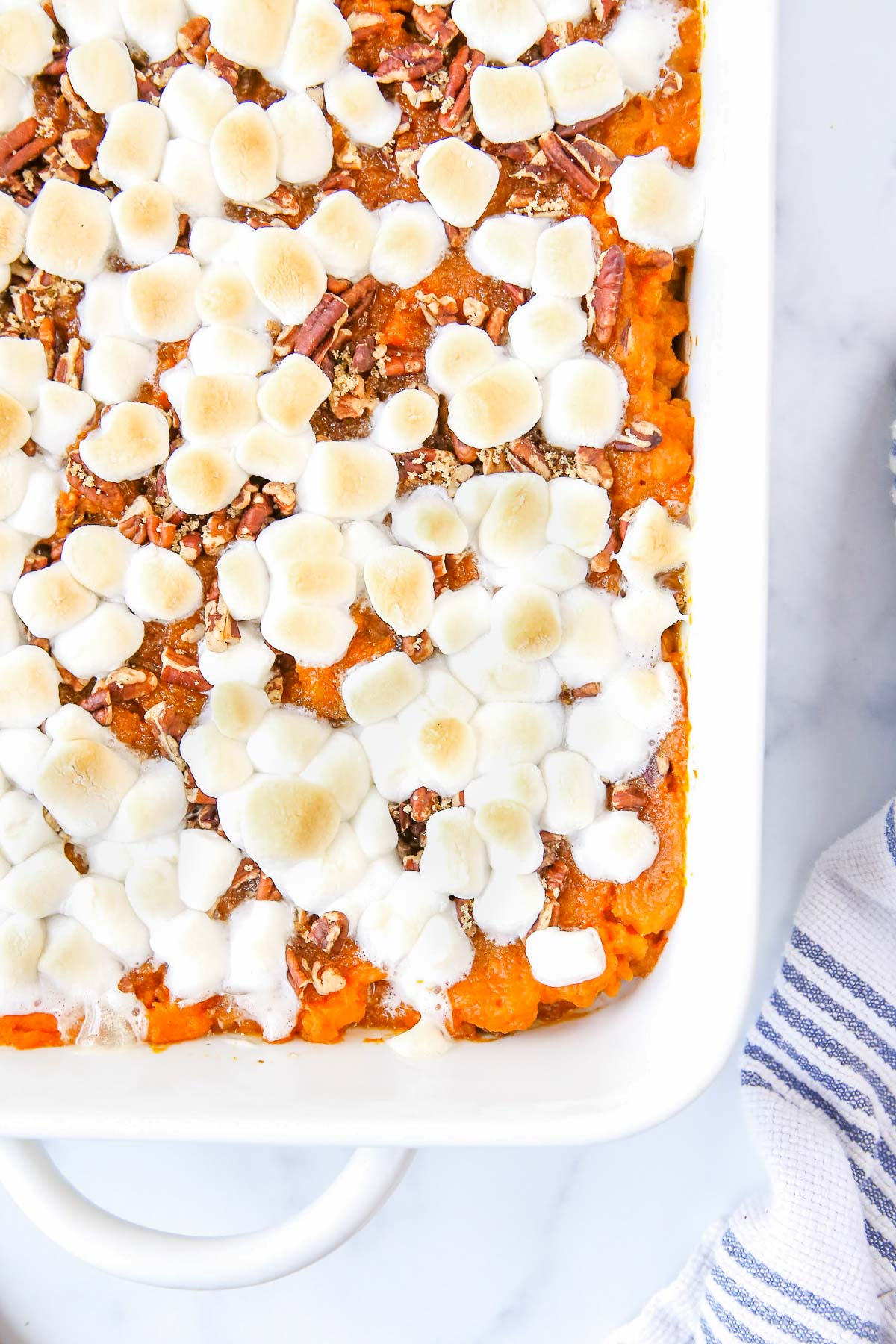 sweet potato casserole quarter view