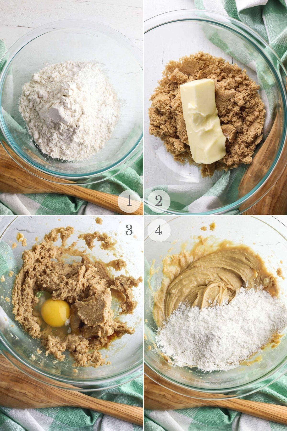 toffee cookies recipe steps 1-4
