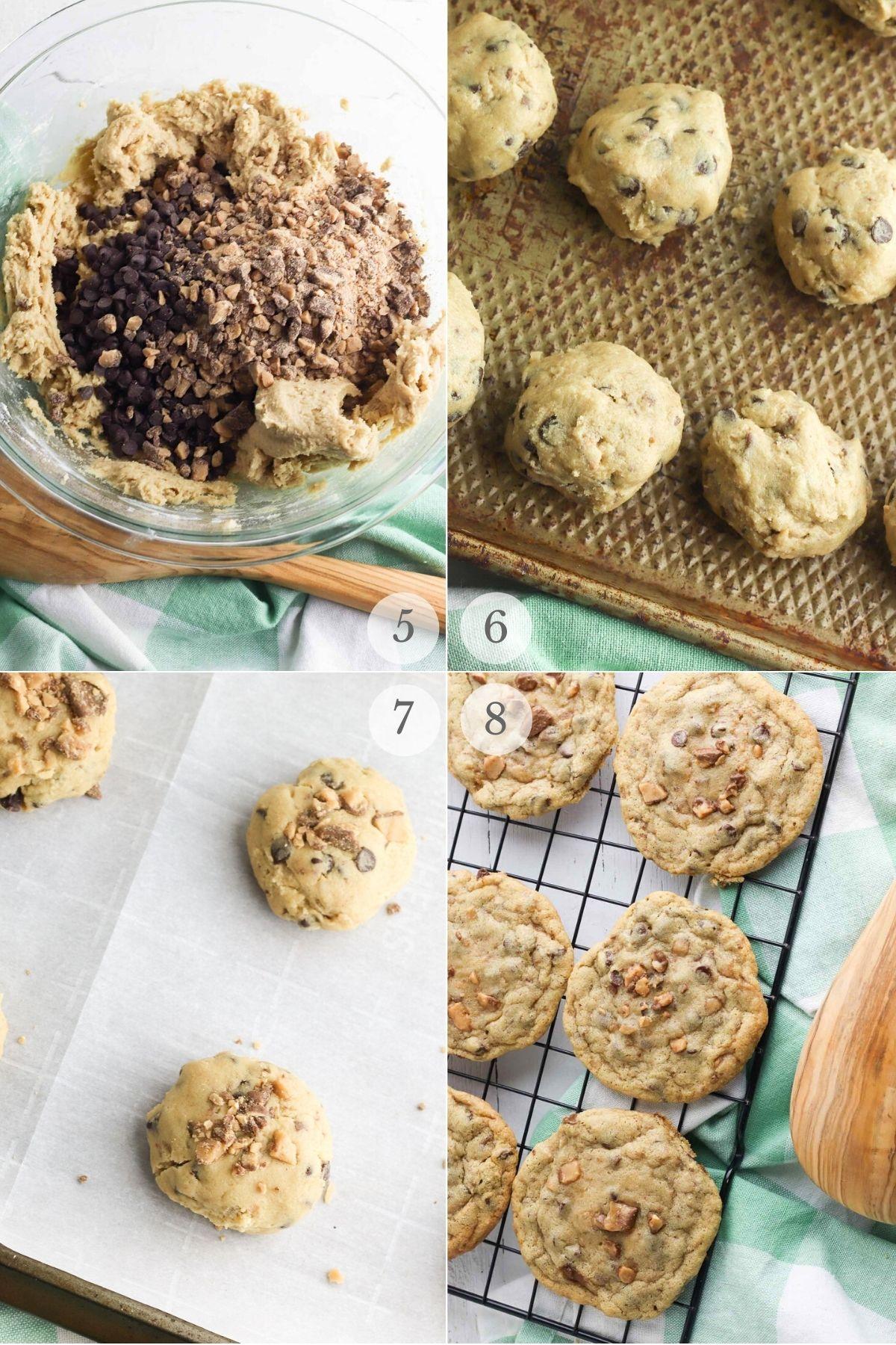 toffee cookies recipe steps 5-8