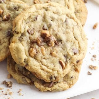 toffee cookies title image