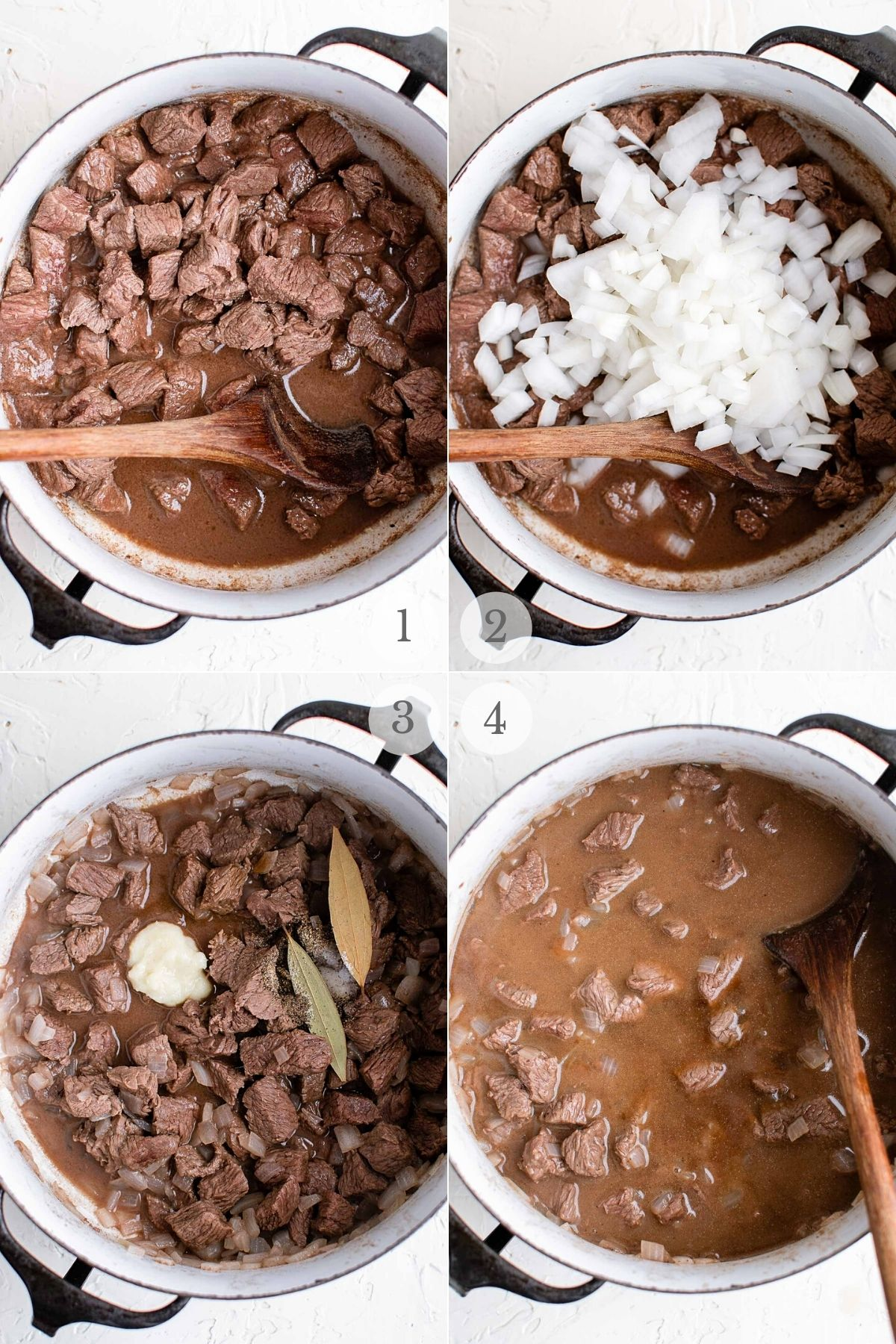Beef Tips recipe steps 1-4