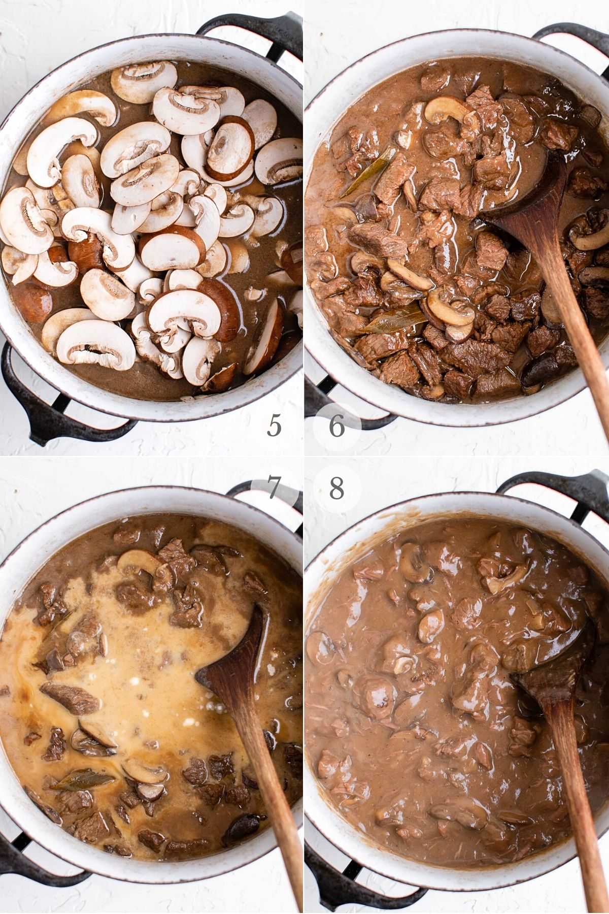 Beef Tips recipe steps 5-8