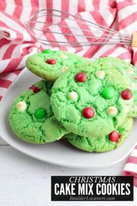 Christmas Cake Mix Cookies title image