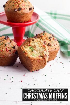 Christmas Chocolate Chip Muffins title