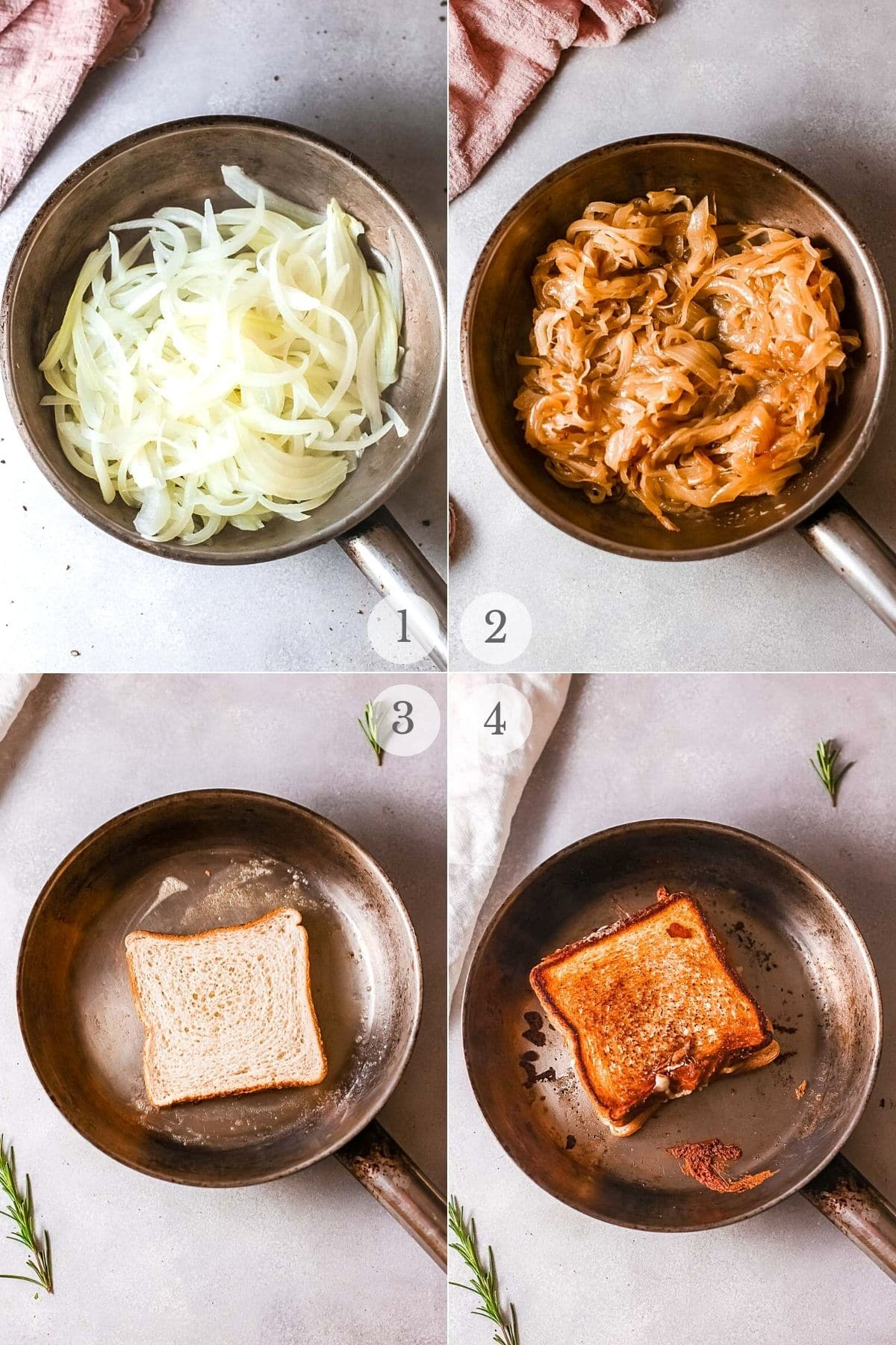 French Onion Grilled Cheese recipe steps