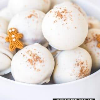 GINGERSNAP WHITE CHOCOLATE TRUFFLES TITLE