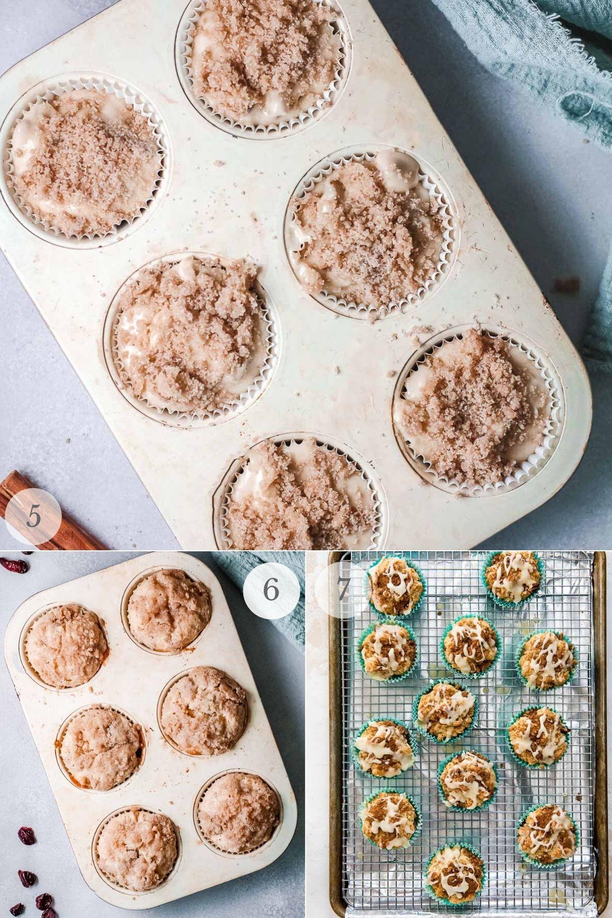 cranberry orange muffins recipe steps 5-7