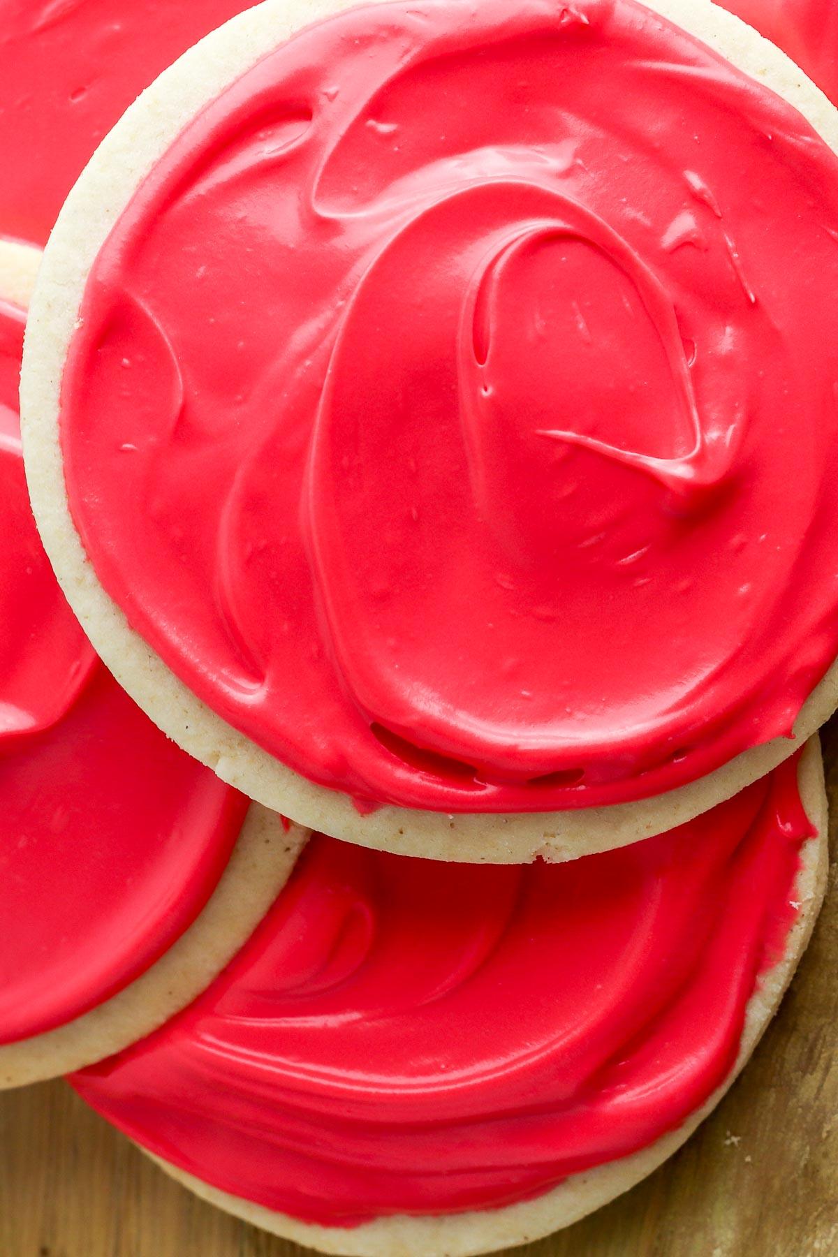 cream cheese sugar cookies close up