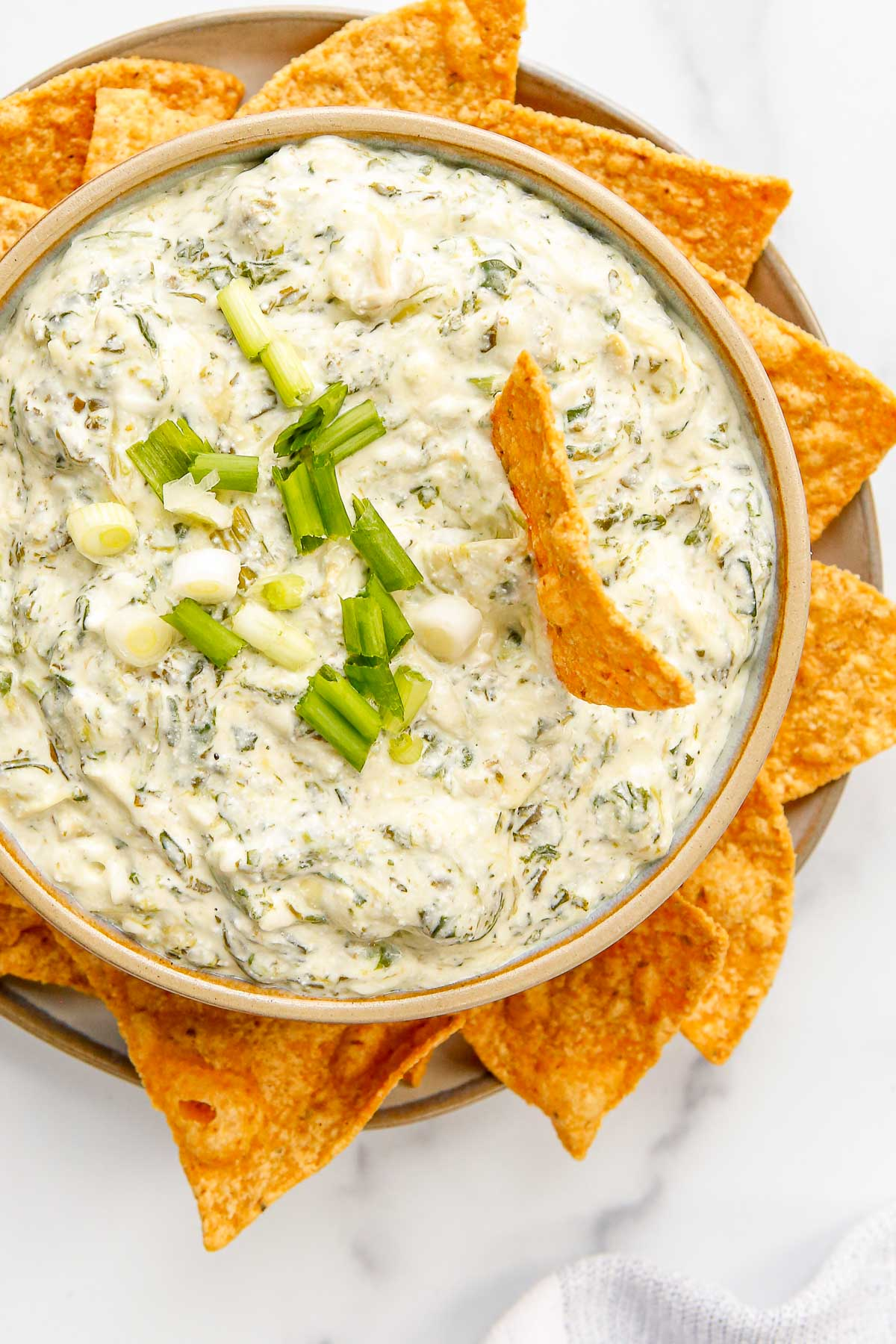 bowl of spinach and artichoke dip