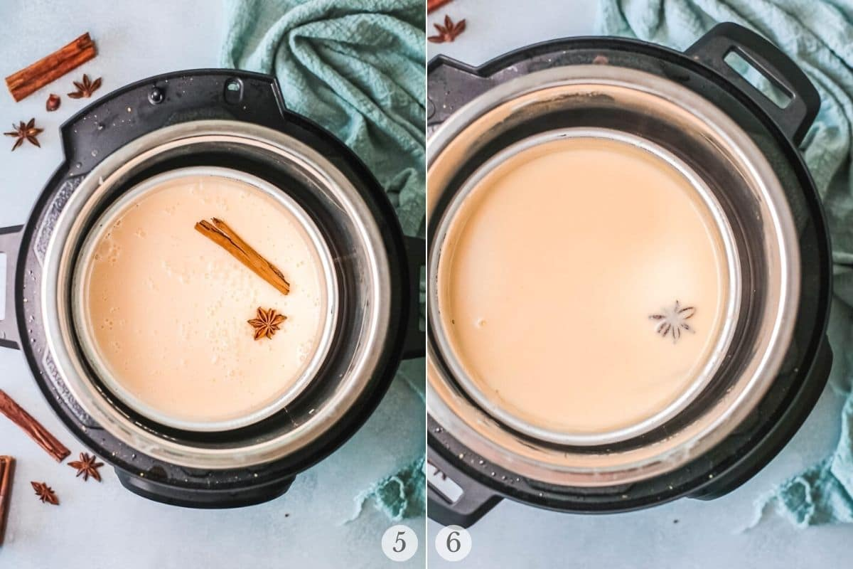 eggnog in the instant pot recipe steps 5-6