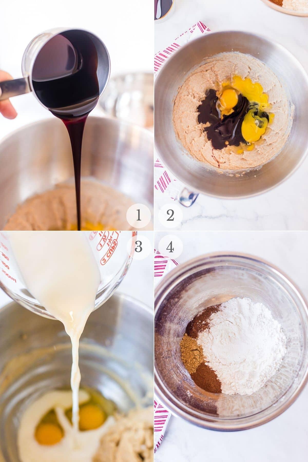 gingerbread cupcakes recipe steps 1-4