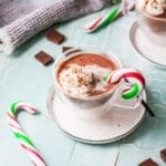 peppermint hot chocolate title