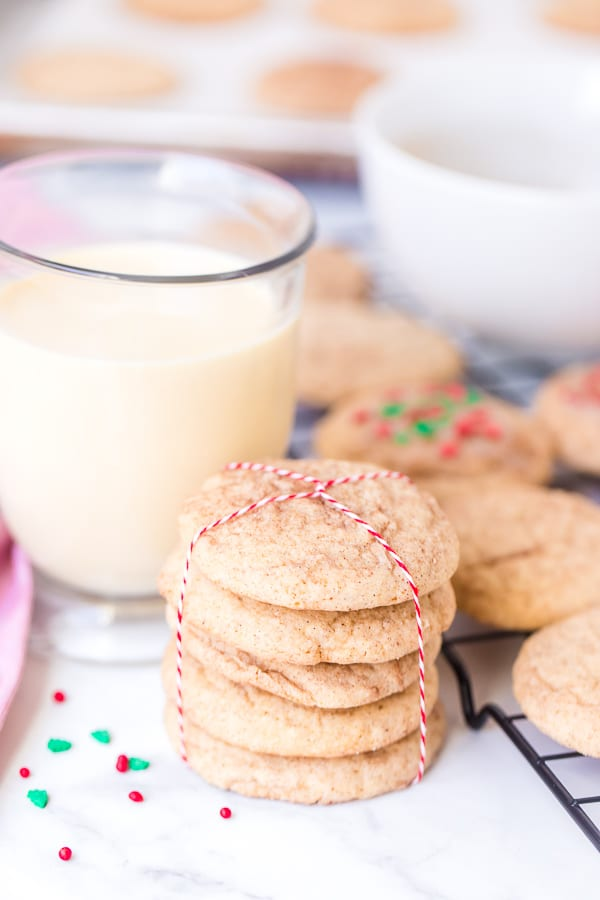 stack of eggnog snickerdoodles