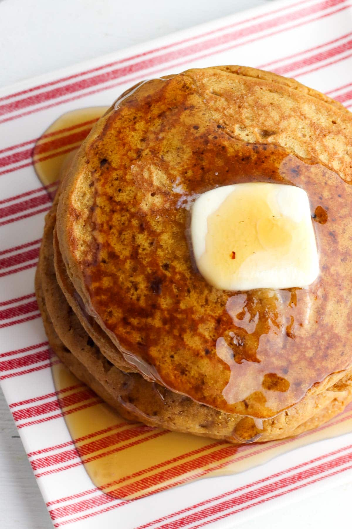 stack of gingerbread pancakes partial