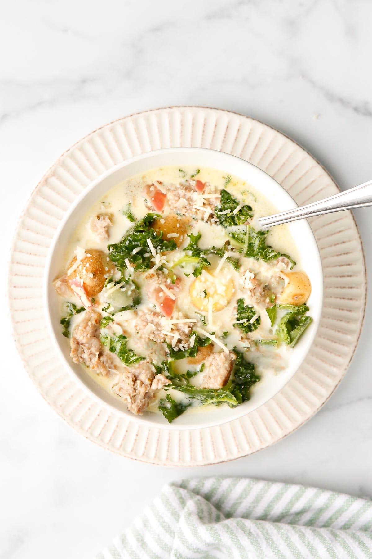 Zuppa Toscana soup bowl