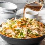 Asian Chicken Salad recipe with spicy Asian dressing