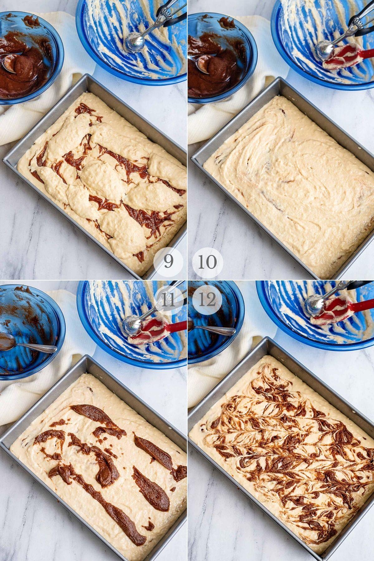 cinnamon roll cake recipe steps 9-12