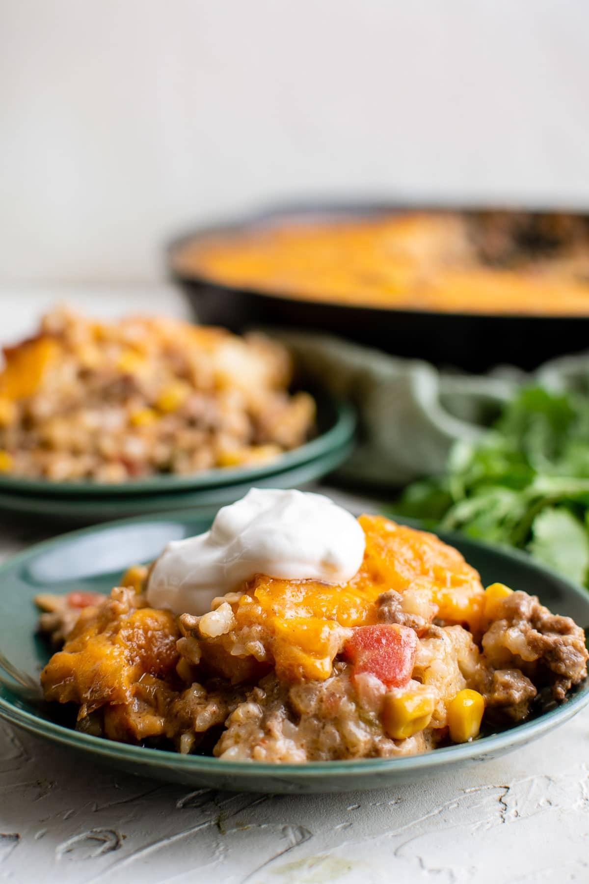 cowboy casserole serving side view