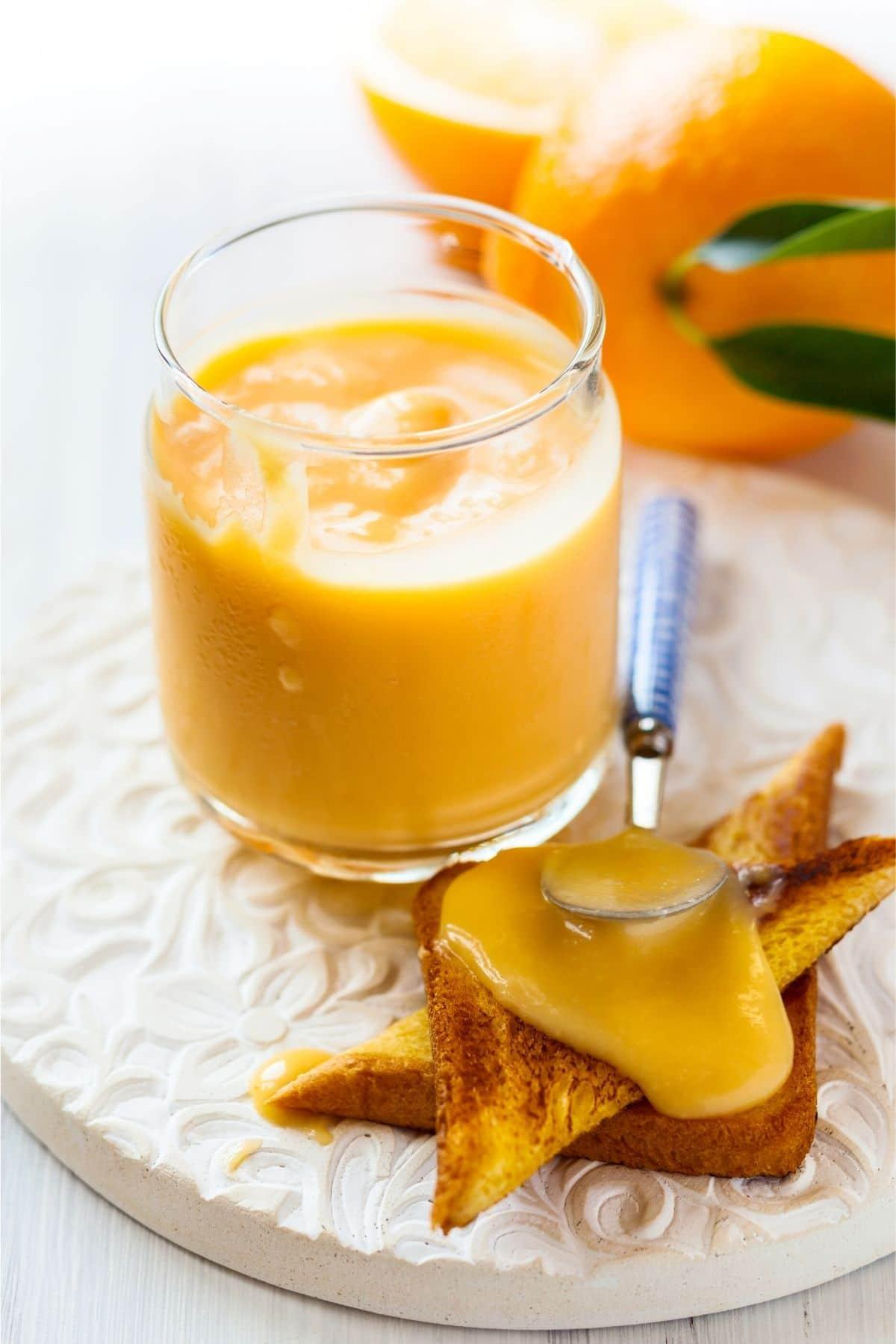 orange curd on toast