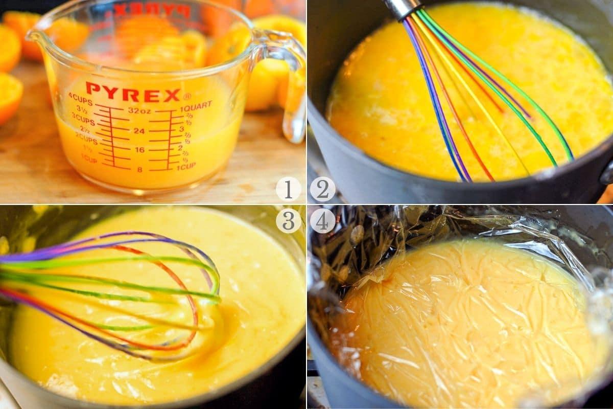 orange curd recipe steps 1-4
