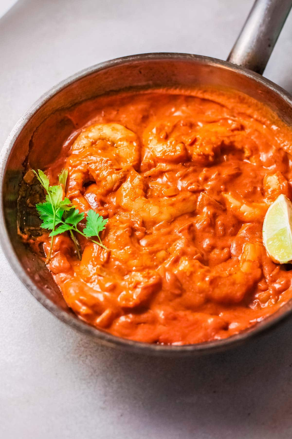 shrimp curry in pan