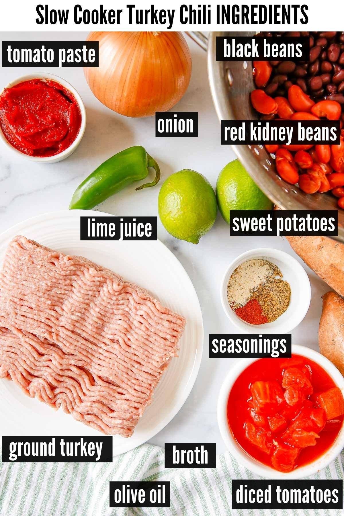 slow cooker turkey chili ingredients