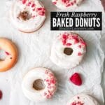Easy Baked Donuts with fresh Raspberries