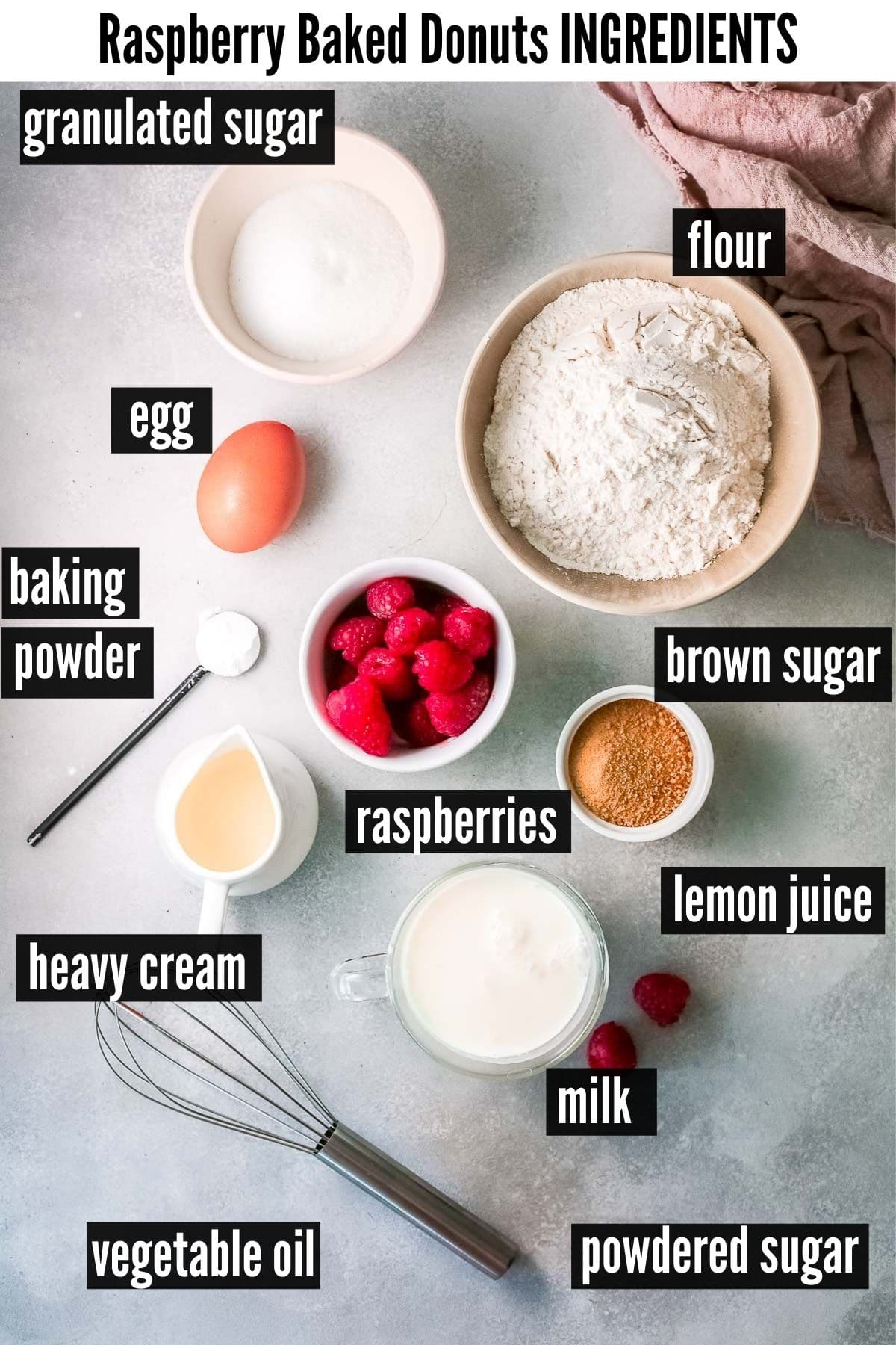 baked donuts ingredients